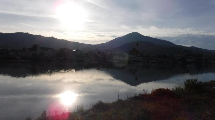Mount Tamalpias over Corte Madera Creek
