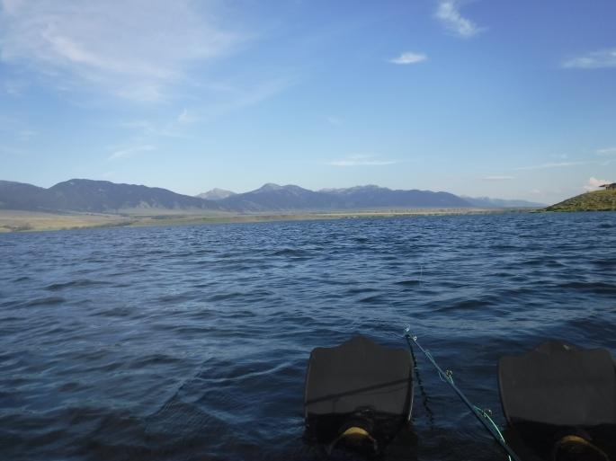 Floating Ennis Lake