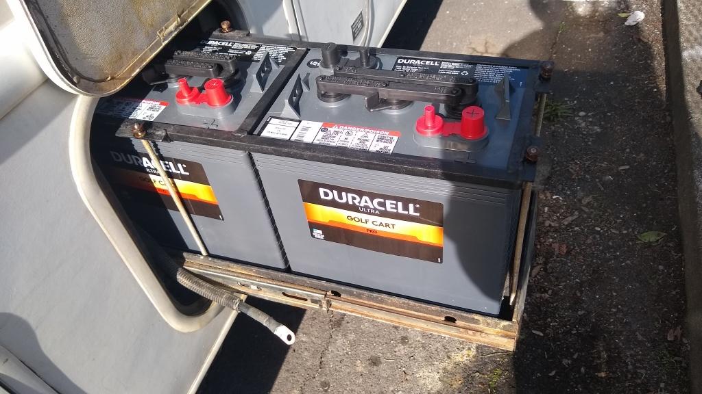 New batteries replacing the Trojan T105s