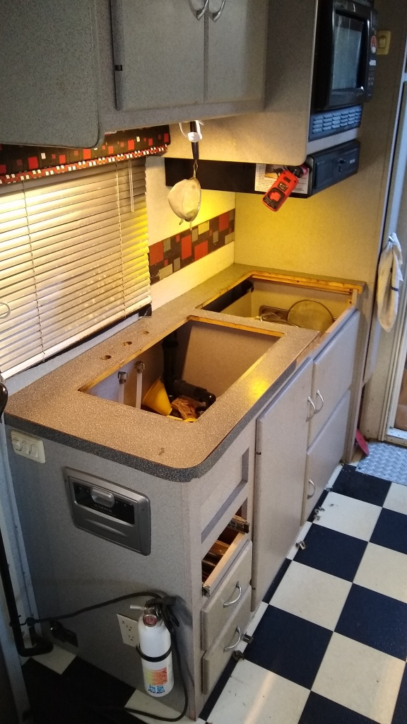 Removing the old countertop