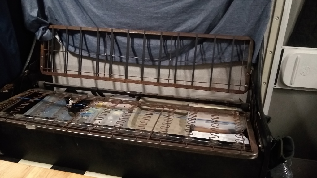 Stripped couch frame